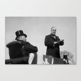 William McKinley Making His Inaugural Address Canvas Print