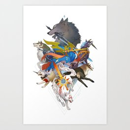 Dogs With Swords Art Print