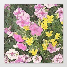 Petunias and Violas Canvas Print