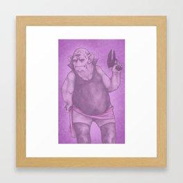 Purple Nurple Framed Art Print