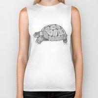 tortoise Biker Tanks featuring Tortoise by Carissa Tanton