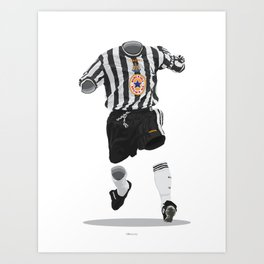 Newcastle United 1997-1998-1999 Art Print