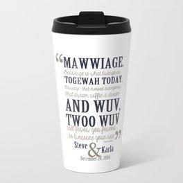 steve and karla bedding Travel Mug
