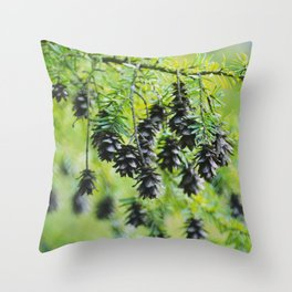 Snoqualmie Cones Throw Pillow