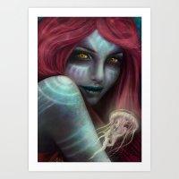 """ariel Art Prints featuring """"Ariel"""" by PeeGeeArts"""