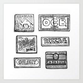 Papel de fumar Art Print