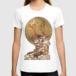Woman with Golden Hair,mixed media. T-shirt