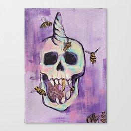 Skull&Bees Canvas Print