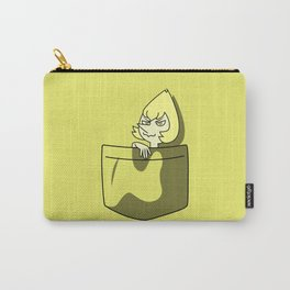 Yellow Pearl Pocket Tee Carry-All Pouch