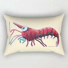 Angelina the Cardinal Shrimp Rectangular Pillow
