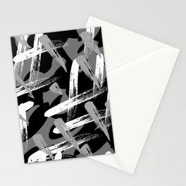 mock graffiti_black white gray Stationery Cards