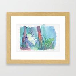 Little monster watercolor Framed Art Print