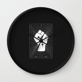 Justice Tarot Card Wall Clock