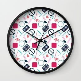 Contraception Pattern Wall Clock