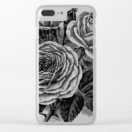 Vintage Roses Bouquet Clear iPhone Case