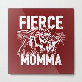 Fierce Momma / Red Metal Print