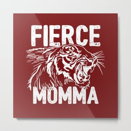 Fierce Momma / Red Metal Print