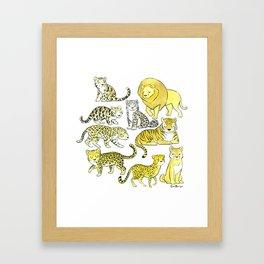 Big Cats Framed Art Print