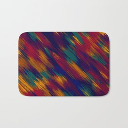 blue green orange and red painting abstract background Bath Mat