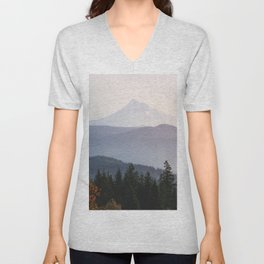 Mount Hood over the Columbia River Gorge Unisex V-Neck