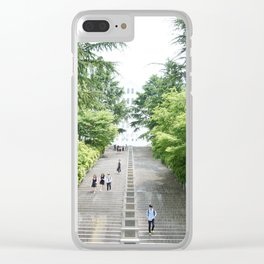 Spring in the City Clear iPhone Case