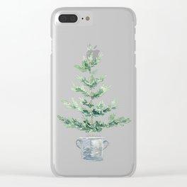 Christmas fir tree Clear iPhone Case