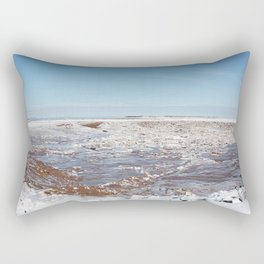 Snow on the Bay of Fundy Rectangular Pillow