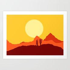 Mojave desert scene Art Print