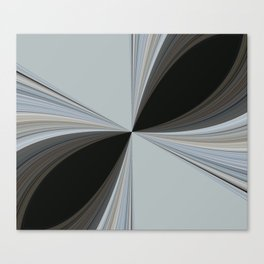 Brown and Grey Tones of Eucalyptus Swirl Pattern Canvas Print