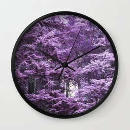 Infrared Trees Forest Wall Clock