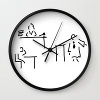 lawyer Wall Clocks featuring lawyer judge public prosecutor court by Lineamentum