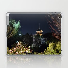 Night Temple in Kyoto Laptop & iPad Skin