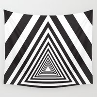 triangle Wall Tapestries featuring Triangle by Vadeco