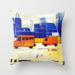 Yellow Buses Throw Pillow
