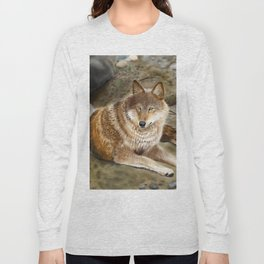 Wolf by the Riverbed Long Sleeve T-shirt