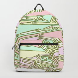 Pink Crazy Abstract Maze Backpack