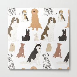 All Kinds of Dogs Metal Print