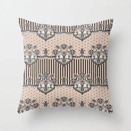 Dakota Black Lace Throw Pillow