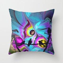Birds Kingdom Throw Pillow