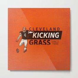 Kicking Grass Metal Print