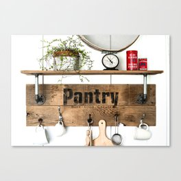 Pantry Shelf Canvas Print