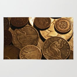 Cool Old Coins Rug