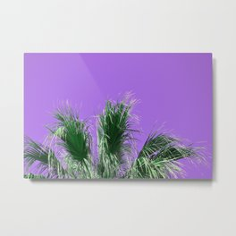 Palms on Purple Metal Print