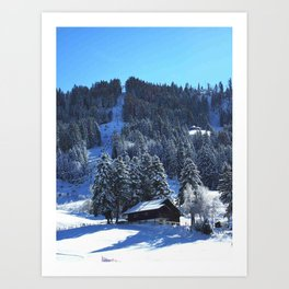 Winter wonderland landscape Art Print