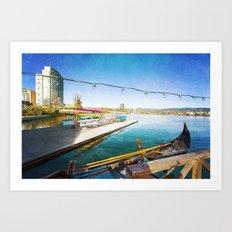Lake Merritt Gondola Art Print