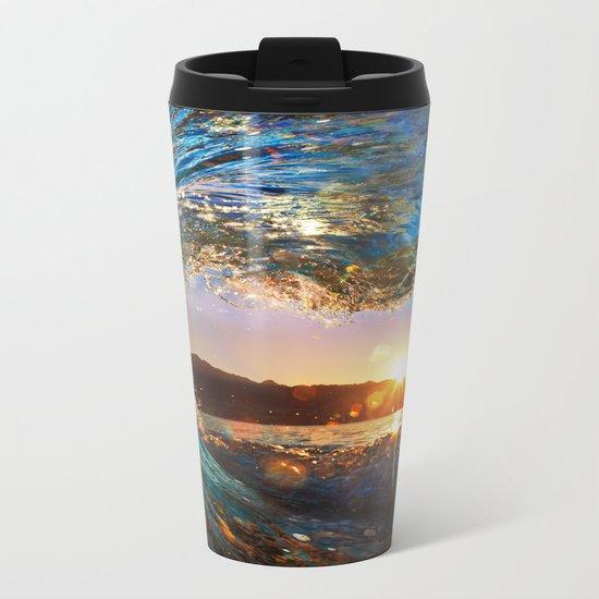 Beach - Waves - Ocean - Sun   Metal Travel Mug