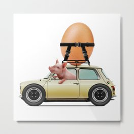 Bacon and Egg  - No BG Metal Print
