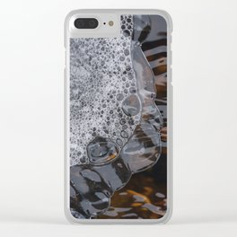 Abstract face. Clear iPhone Case