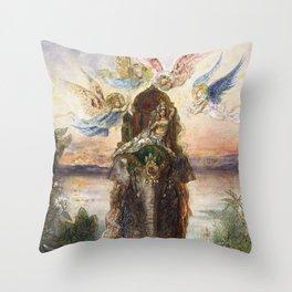The Sacred Elepant Painting (1882) Throw Pillow