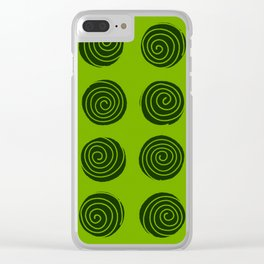 Lime Squeeze Clear iPhone Case